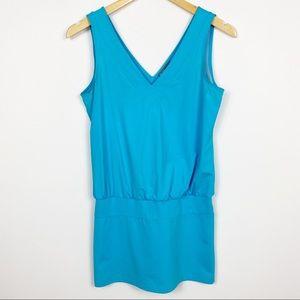 Lija Turquoise Tank Top Dress Small